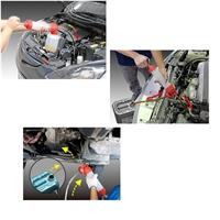 Ölspritzpumpe mit Saugfunktion und Ölabsaugpumpe (IN & OUT), 4er Set