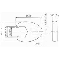 20 mm Hahnenfuss-Schlüssel, 12,5 (1/2)