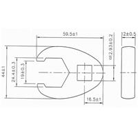 24 mm Hahnenfuss-Schlüssel, 12,5 (1/2)