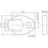 28 mm Hahnenfuss-Schlüssel, 12,5 (1/2)