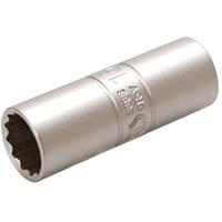 Zündkerzen-Einsatz mit Haltegummi, 12,5 (1/2), 16 mm