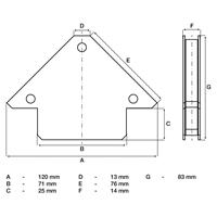 Kraft-Magnethalter, bis 11 kg