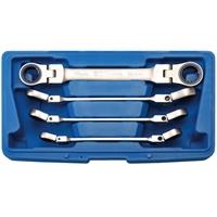 Doppelring-Ratschenschlüssel-Set, abwinkelbar, 10-19 mm, 4-tlg.