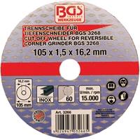 Trennscheibe für BGS Tiefenschneider 105x1,5x16,2