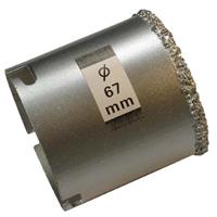 Bohrkrone für Fliesenlochbohrsatz, 67 mm