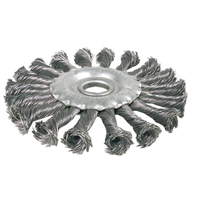 Scheibenbürste / Zopfrundbürsten, 125 mm Durchmesser