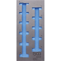 1/3 Werkstattwageneinlage, leer für: Steckschlüsseleinsätze 10 (3/8), 6-kant, tief, 8-19 mm