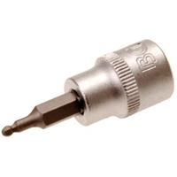 Bit-Einsatz, 3 mm Innensechskant, 10 (3/8), mit Kugelkopf