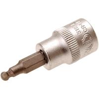 Bit-Einsatz, 4 mm Innensechskant, 10 (3/8), mit Kugelkopf