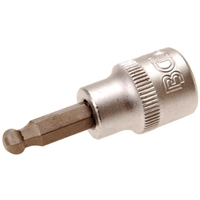 Bit-Einsatz, 6 mm Innensechskant, 10 (3/8), mit Kugelkopf
