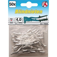 Blindnieten 4,0 mm, 50 Stück