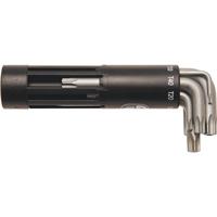 T-Profil-Winkelschlüsselsatz, mit Stirnlochbohrung, T10-T50, 8-tlg.