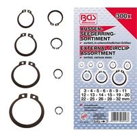 Außen-Seegerring (Sprengring) -Sortiment, 3-32 mm, 300-tlg.