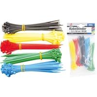 Kabelbinder-Sortiment | farbig | 2,4 x 100 mm | 200-teilig