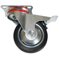 Lenkrolle mit Bremse 75 mm, mit Anschraubsockel