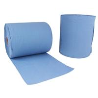 "2x Putzrolle blau 2-lagig 36x38 ""MAXI-1000"""