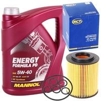 Filter, Ölfilter + Mannol 5W-40 Energy Formula PD, 5L