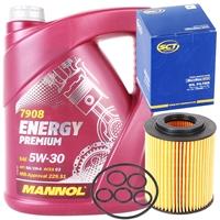 Filter, Ölfilter + Mannol Energy Premium 5W-30, 5 Liter