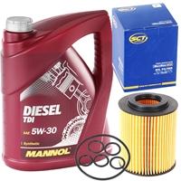 Filter, Ölfilter + MANNOL Diesel TDI 5W-30 Motoröl API SN/CF 5 Liter