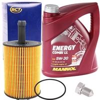 SCT GERMANY Ölfilter + MANNOL Energy Combi LL 5W-30, 5 Liter