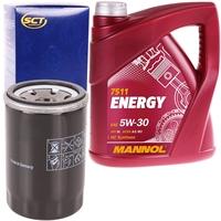 SCT Germany Ölfilter + Mannol 5W-30 ENERGY 5 Liter