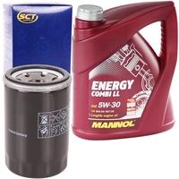 SCT Germany Ölfilter + MANNOL Energy Combi LL 5W-30 , 5 Liter