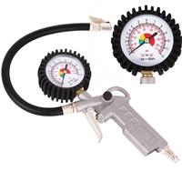 TECPO Druckluft Reifenfüllpistole 0-12 Bar + Spiralschlauch 6m