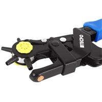 TECPO Revolverlochzange, Gürtel lochen in 6 Größen