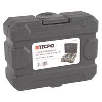Außen Torx Steckschlüssel Satz 1/2 Zoll, E10 bis E24, 9-teilig + TECPO Umschaltknarre 1/2 Zoll