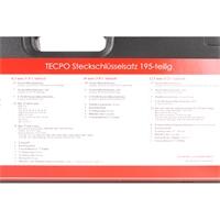 "TECPO Steckschlüsselsatz ""Profi-Werkstatt"" 195-teilig, 1/2, 3/8, 1/4 Zoll"