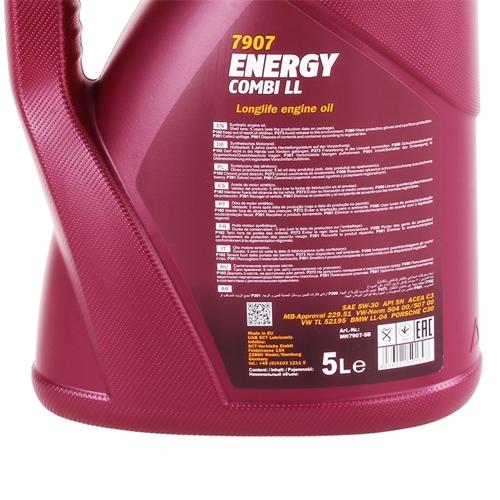MANNOL Energy Combi LL 5W-30 API SN/CF, 5 Liter