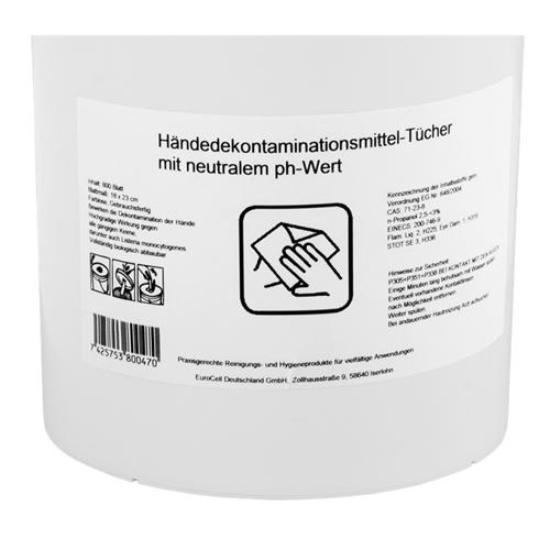 2x Hygenietücher Händedekontaminationsmittel Tücher, 800-tlg.