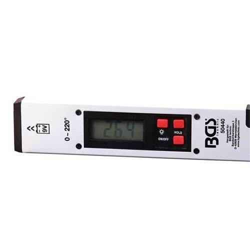 Digitaler LCD Winkelmesser mit Wasserwaage, 450 mm