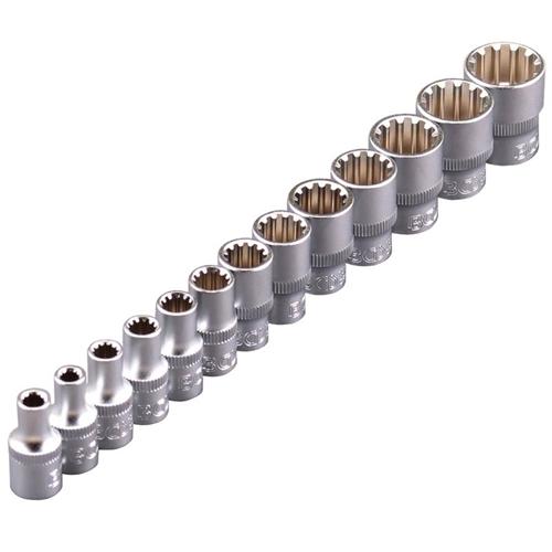 """Gear Lock Steckschlüsseleinsätze, 6.3 mm 1/4"""", 13-tlg."""