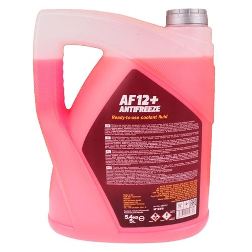 Mannol Antifreeze Kühlerfrostschutz AF12+ -40°C, Rot-Lila, 5 Liter