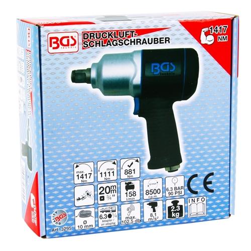 """BGS Druckluft-Schlagschrauber, 20 (3/4"""") Verbundgehäuse, 1,417 NM"""