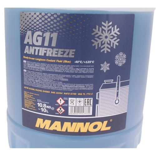 Mannol Antifreeze AG11 Kühlerfrostschutz (- 40°C) Blau, 10L