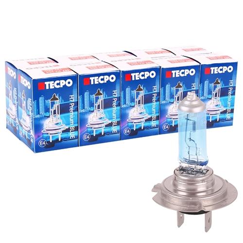 10x TECPO H7 Glühbirne 12V 55W, PX26d, Super White, Xenon Optik
