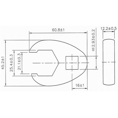 25 mm Hahnenfuss-Schlüssel, 12,5 (1/2)
