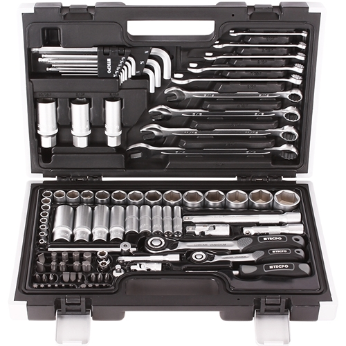 Zoll Steckschlüssel Satz 92-tlg. Werkzeugkoffer britisch