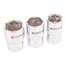 Drehmomentschlüssel 1/2 Zoll, 40-210 Nm + Stecknüsse 17-19-21 mm
