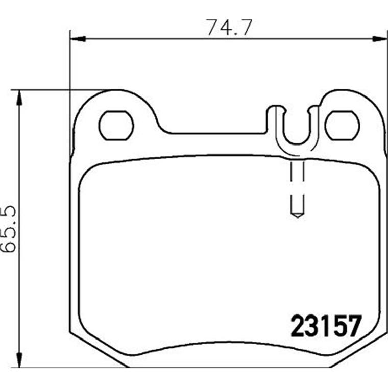 TEXTAR Bremsbeläge Bremsbelagsatz Mercedes W163 ML320-55AMG ML270//400CDI hinten