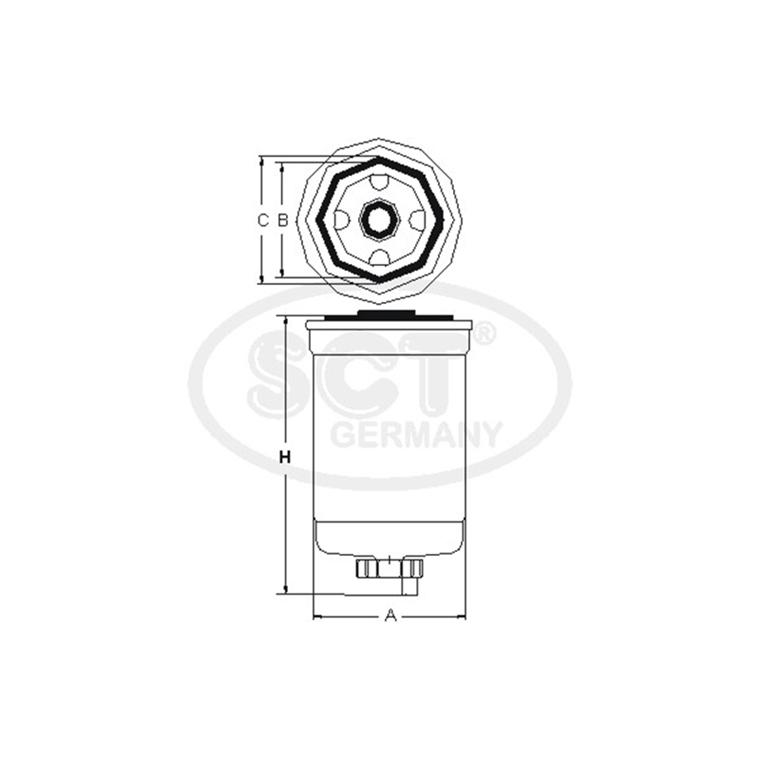 sct germany original kraftstofffilter    dieselfilter st354 audi bmw vw volvo