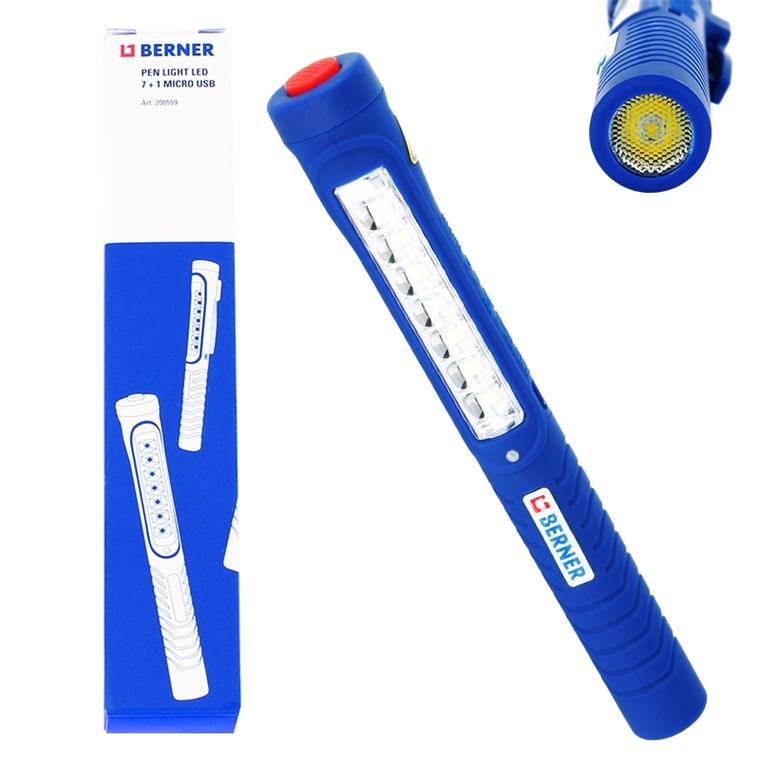 Berner Pen Light Led 7 1 Handlampe Werkstatt Lampe Li Io Akku Inspektionslampe Ebay