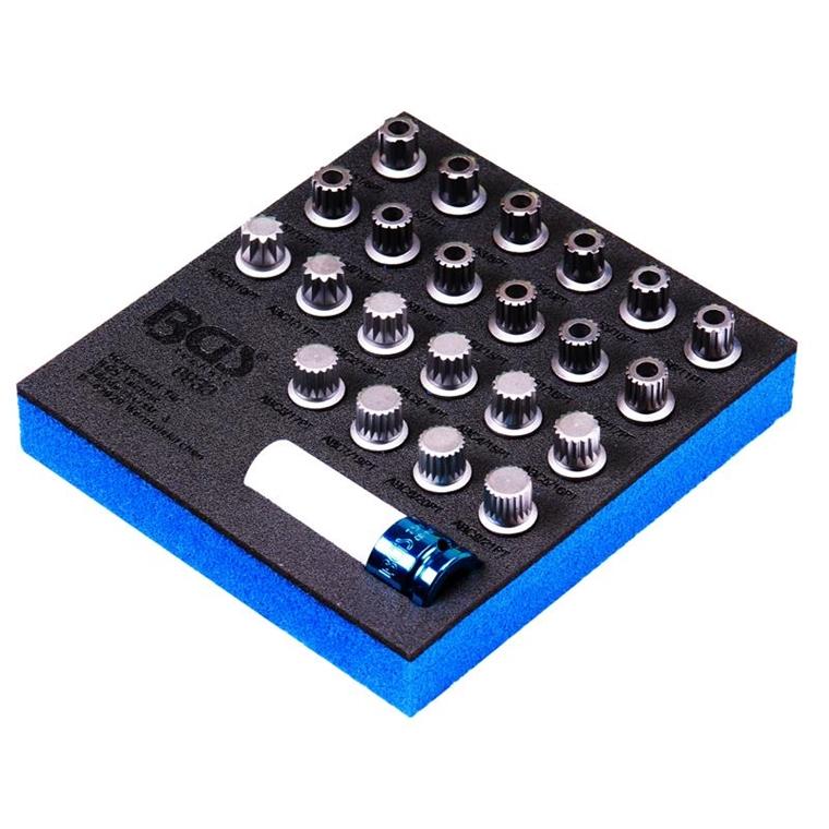BGS 8933 23 Teiliges Felgenschloss-Demontageeinsätze für VAG