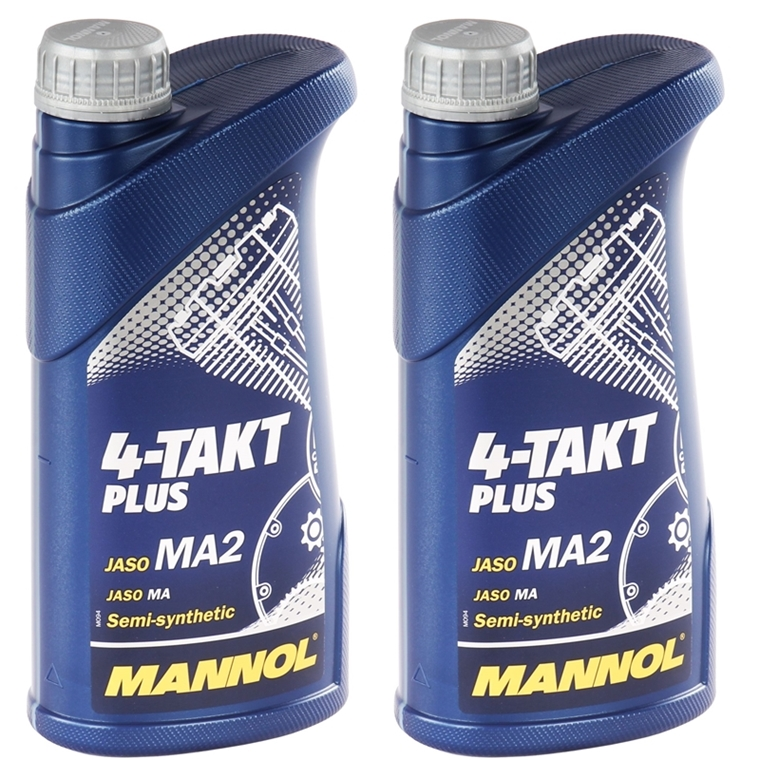 2x1 liter mannol 10w 40 4 takt plus motor l motorrad l. Black Bedroom Furniture Sets. Home Design Ideas