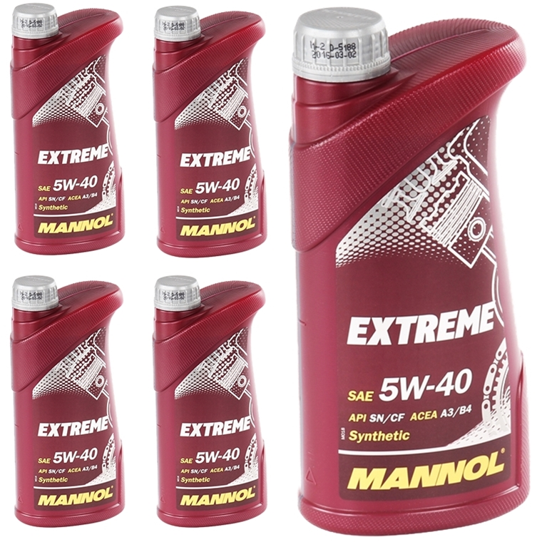5x 1 liter mannol extreme 5w 40 motor l api sn cf acea a3. Black Bedroom Furniture Sets. Home Design Ideas