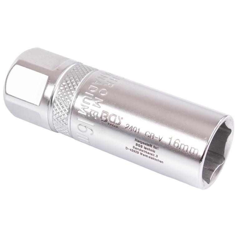 BGS 2401 Zündkerzeneinsatz  Zündkerzenschlüssel 16 mm mit Haltefeder Zündkerze