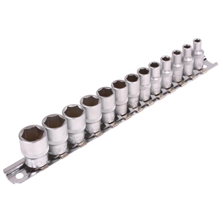 BGS 9102 Nüsse Steckschlüssel Satz  1//4 Zoll  6-kant 4-14 mm 13 Teilig