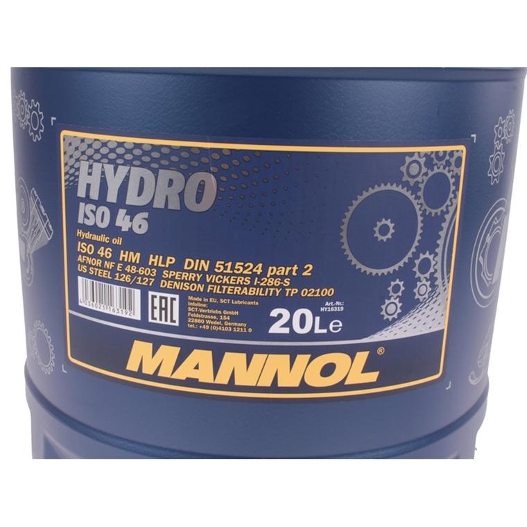 mannol hydro iso hlp 46 hydraulik l 20 liter autoteile. Black Bedroom Furniture Sets. Home Design Ideas
